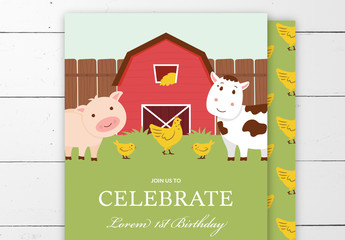 Kids Birthday Party Invitation Layout