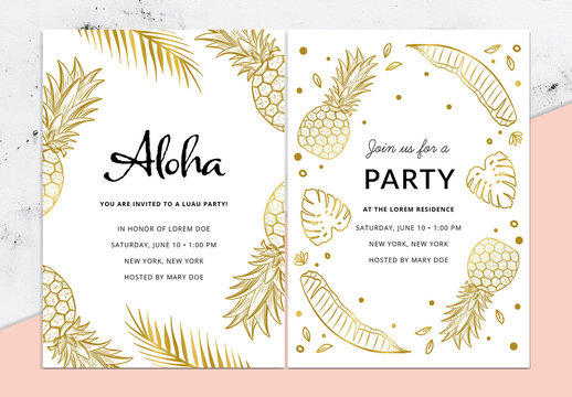 Tropical Party Invitation Layout