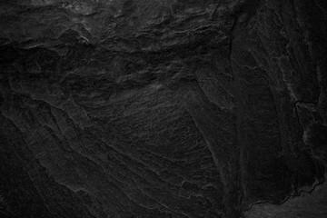 Wall Mural - Dark grey black slate background or texture.