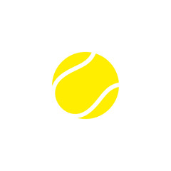 Tennis ball. Icon