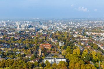 Aerial view of Dortmund, Germany