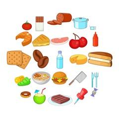 Useful icons set. Cartoon set of 25 useful vector icons for web isolated on white background