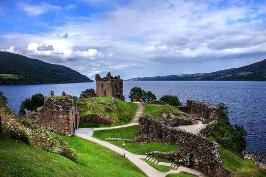 Urquhart Castle. Loch Ness, Inverness in Highlands, Scotland, UK