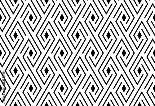 Abstract geometric pattern  A seamless vector background  White and