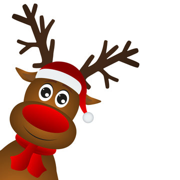 Funny cartoon christmas reindeer