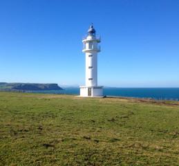 Lighthouse Faro de cabo Ajo, Bareyo, Cantabria, Northern Spain.