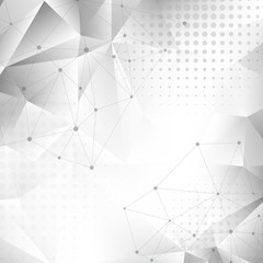 Abstract dirty background with triangles and halftone effect. Vector illustration.