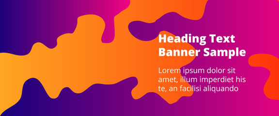 Abstract cover template with gradient design elements. Futuristic abstract modern pattern with fluid colors creating digital art. Bright colored background artistic social media web banner