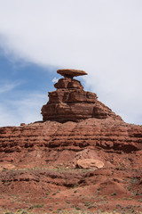Mexican Hat rock formation in Utah is a famous landmark in the Four Corners region of the American Southwest