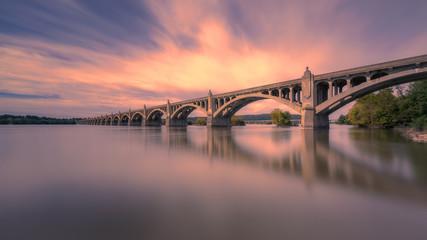 Obraz Columbia–Wrightsville Bridge, PA. | Veterans Memorial Bridge - fototapety do salonu