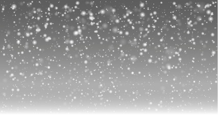 Snow in foggy landscape