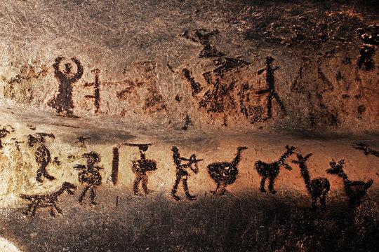 Prehistoric mural drawings in Magura cave