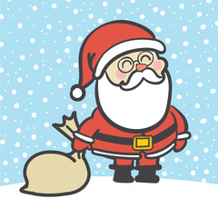 Hand Drawn Santa Claus Vector illustration