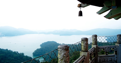 View from Temple towards Sun Moon Lake