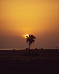 sunset in lake Turkana