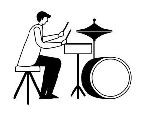 drummer musician man orchestra instrument