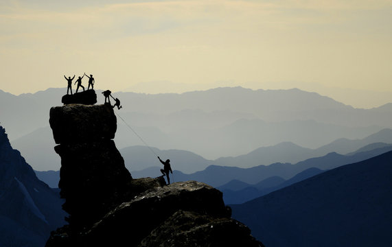 amazing mountains, climbing in mystical areas, adventure, discovery and success stories