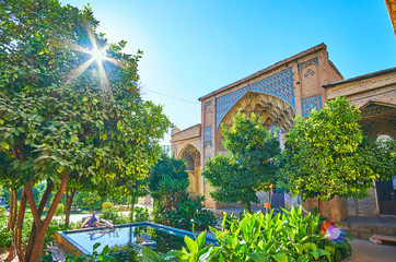 The courtyard of Hafezieh, Shiraz, Iran