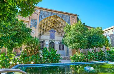 Decorated portal of Hafezieh, Shiraz, Iran