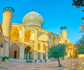 The place of pilgrimage in Shiraz, Iran