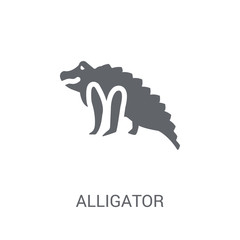 alligator icon. Trendy alligator logo concept on white background from animals collection