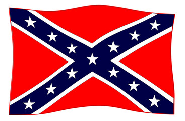 Confederate Flag Waving In The Wind