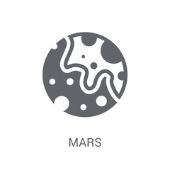 Mars icon. Trendy Mars logo concept on white background from Astronomy collection