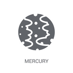 Mercury icon. Trendy Mercury logo concept on white background from Astronomy collection