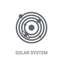 Solar system icon. Trendy Solar system logo concept on white background from Astronomy collection