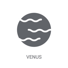 Venus icon. Trendy Venus logo concept on white background from Astronomy collection
