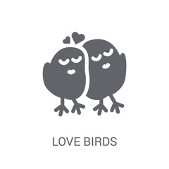 Love Birds icon. Trendy Love Birds logo concept on white background from Birthday party and wedding collection