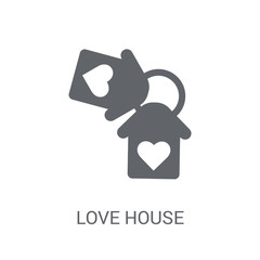 love House icon. Trendy love House logo concept on white background from Birthday party and wedding collection