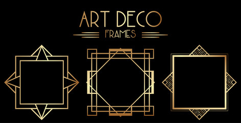 Geometric Gatsby Art Deco Border or Frame Design