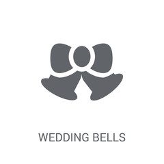 Wedding Bells icon. Trendy Wedding Bells logo concept on white background from Birthday party and wedding collection