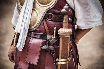 Centurion uniform and armour, the most famous officer in the Roman army