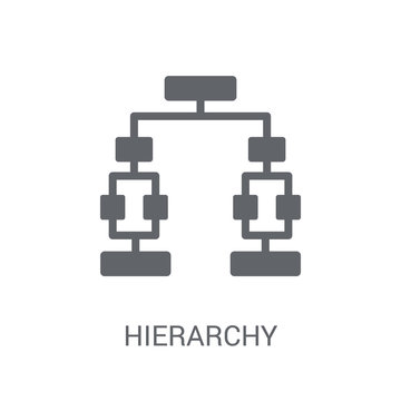 Hierarchy icon. Trendy Hierarchy logo concept on white background from Business and analytics collection