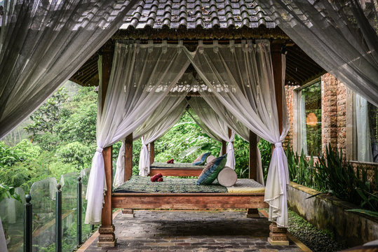 Canopies for massage in resort