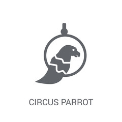 Circus Parrot icon. Trendy Circus Parrot logo concept on white background from Circus collection