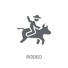 rodeo icon. Trendy rodeo logo concept on white background from Circus collection