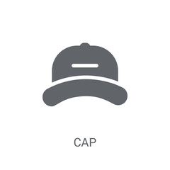 Cap icon. Trendy Cap logo concept on white background from Clothes collection