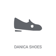 danica shoes icon. Trendy danica shoes logo concept on white background from Clothes collection