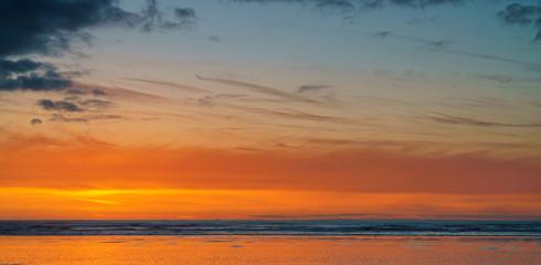 Pacific Ocean Sunset Washington State