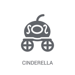 Cinderella carriage icon. Trendy Cinderella carriage logo concept on white background from Fairy Tale collection