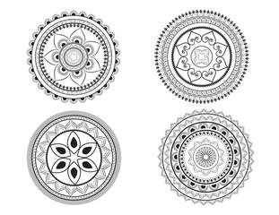 Mandala set or floral design