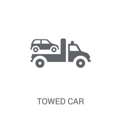 Towed car icon. Trendy Towed car logo concept on white background from Insurance collection