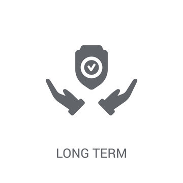 long term protection icon. Trendy long term protection logo concept on white background from Insurance collection