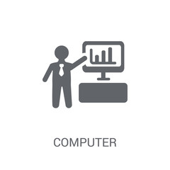 Computer Systems Analyst icon. Trendy Computer Systems Analyst logo concept on white background from Professions collection