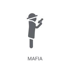 Mafia icon. Trendy Mafia logo concept on white background from Professions collection