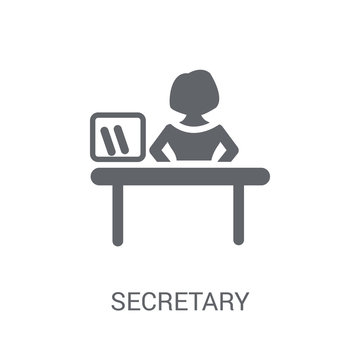 secretary icon. Trendy secretary logo concept on white background from Professions collection