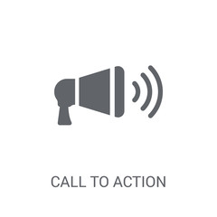 Call to Action icon. Trendy Call to Action logo concept on white background from Technology collection